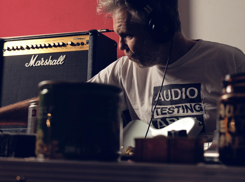 Audio Testing Area and Michael Galeza duo conceptual music in studio