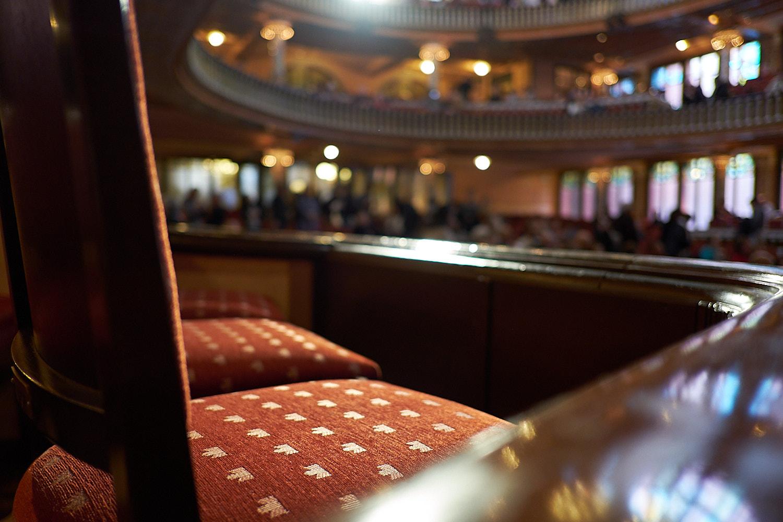 Detail seat rows, Palau de la Musica Barcelona