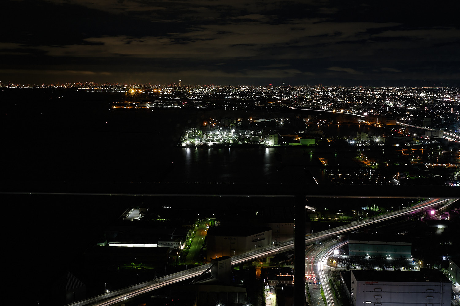 Night view from floor 46 in Japan, Osaka