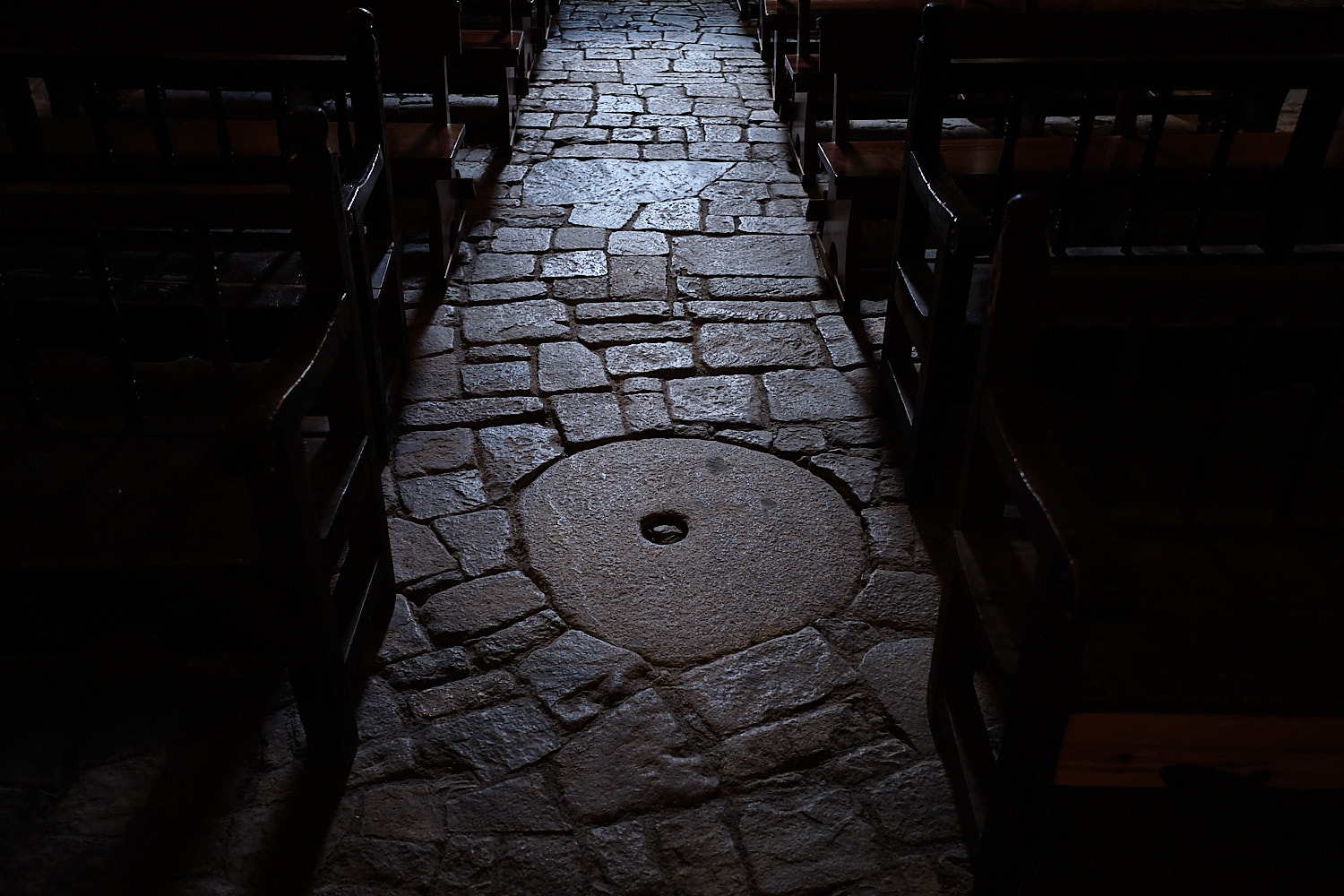 Interior view of the romanesque church of Taüll, Vall de Boí, Pyrenees, Spain