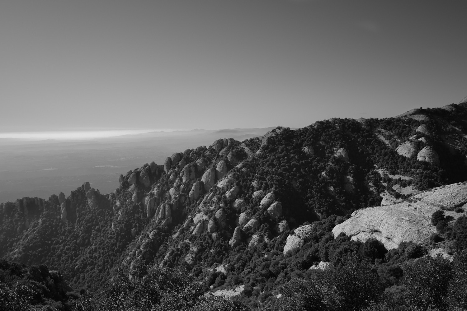 Barcelona, Montserrat, the south path to the upper chapel