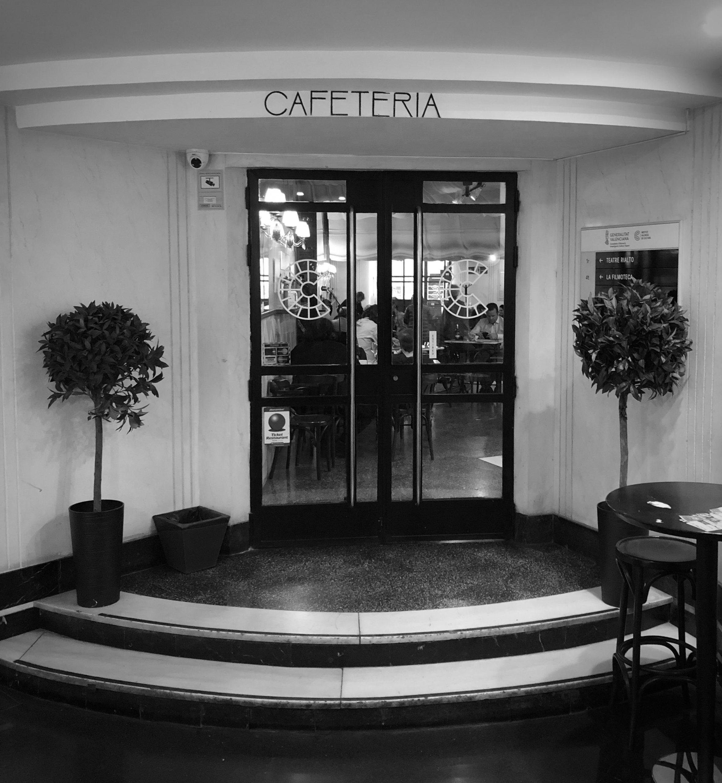 Valencia, Teatro Rialto, entrance to the cafeteria, Bauhaus