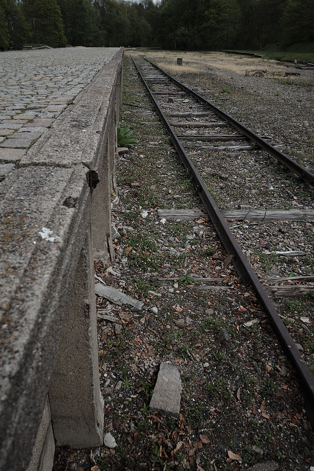 Dismatled train station in the Memorial Site of the KZ-Buchenwald, Weimar, Germany