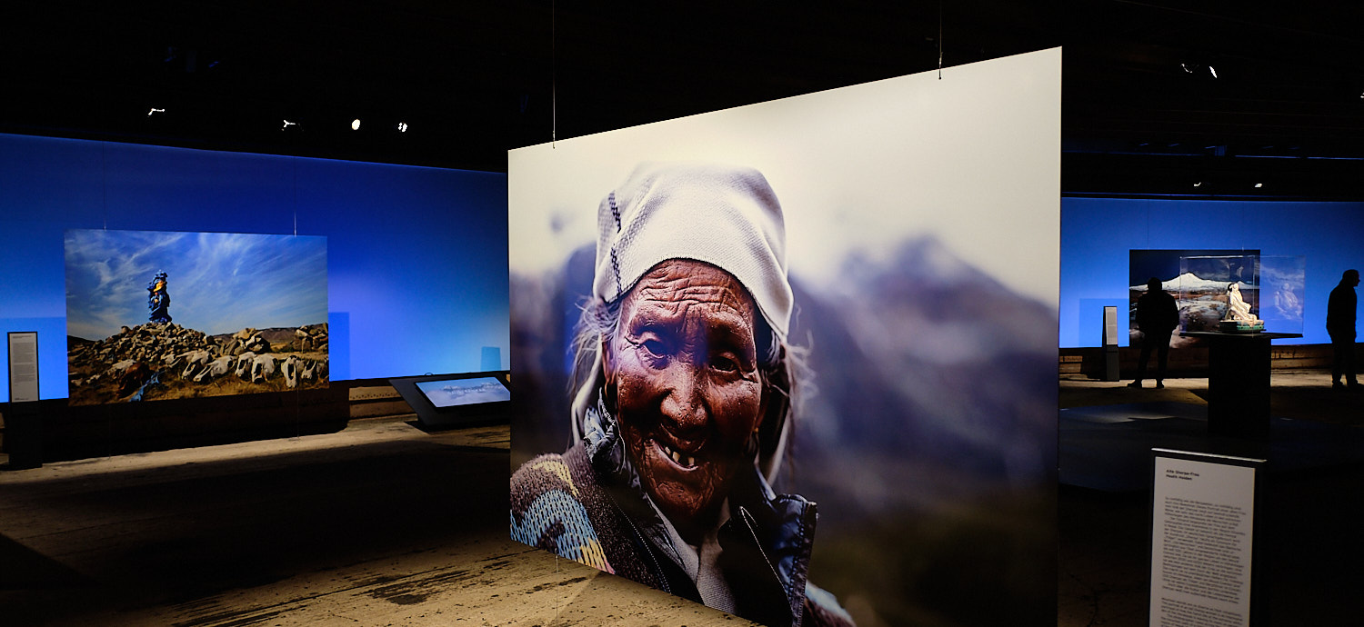 """""""Der Berg Ruft"""" Temporary exhibition about mountains at the Gasometer, Oberhausen, Germany"""