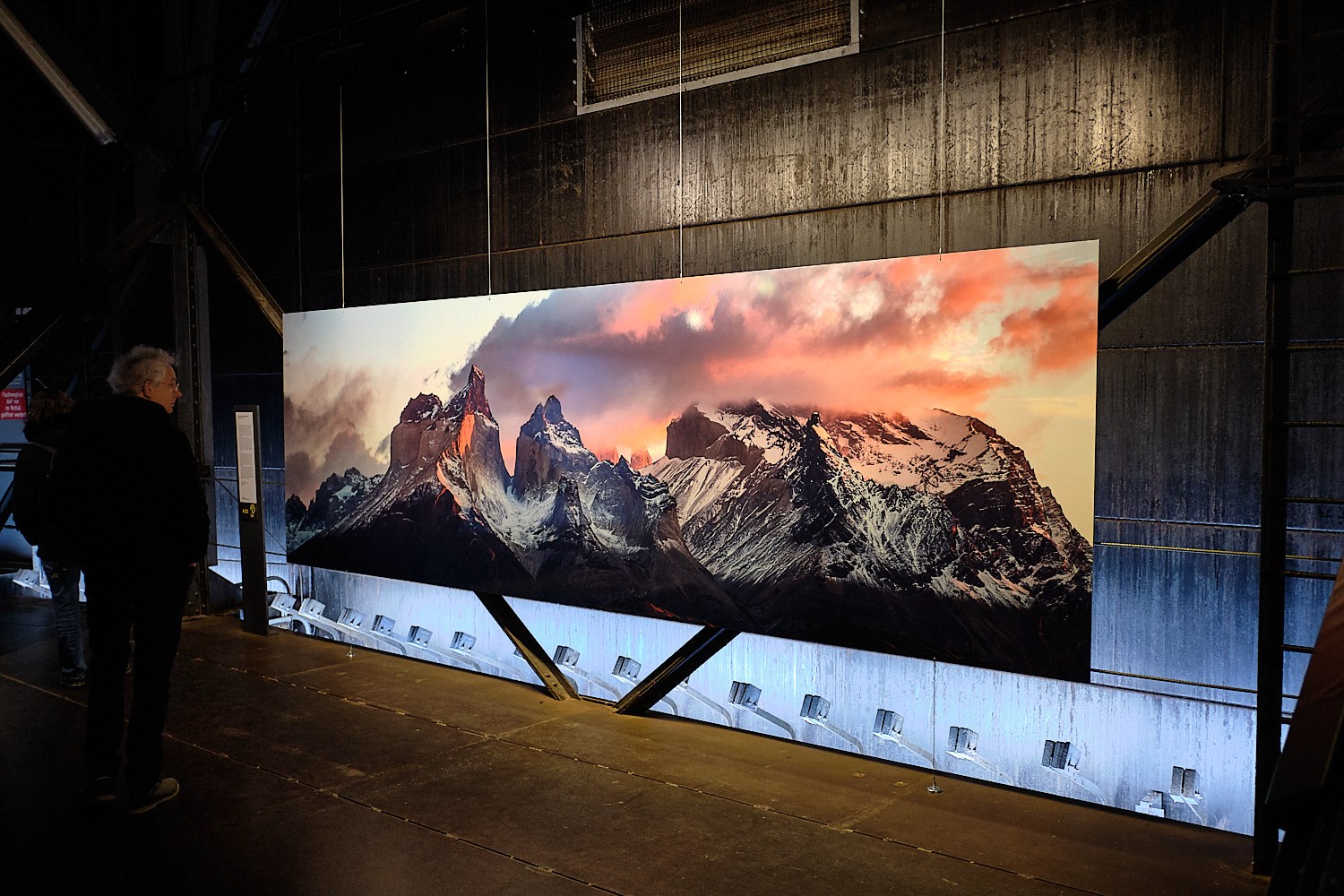 """Der Berg Ruft"" Temporary exhibition about mountains at the Gasometer, Oberhausen, Germany"