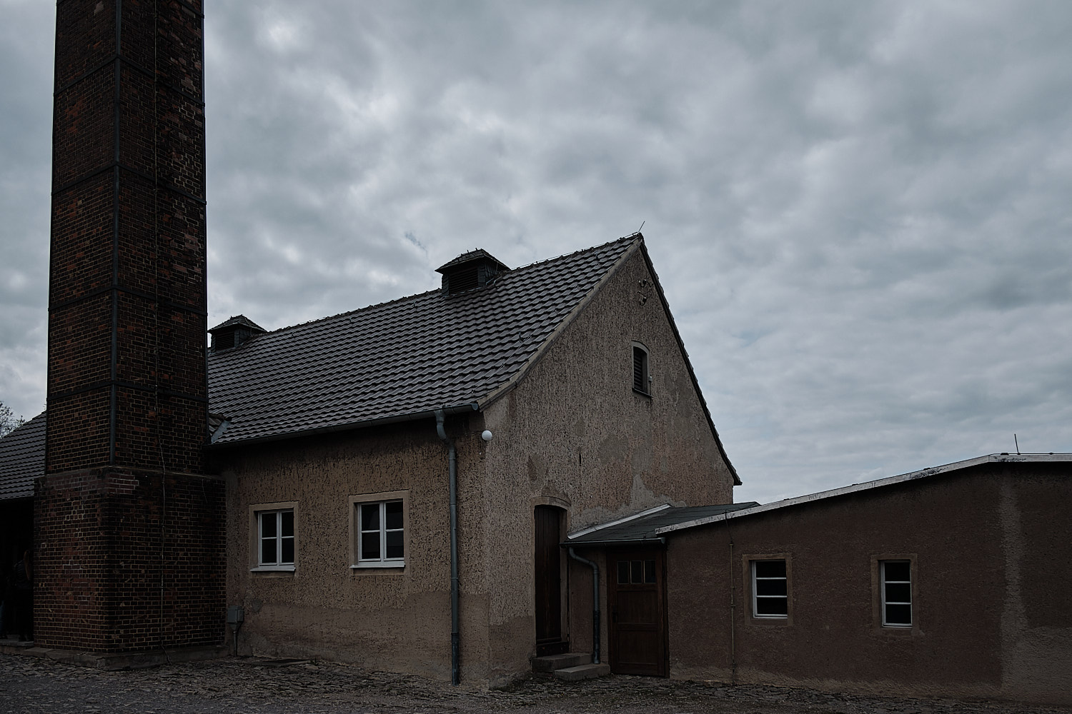 Torture and Crematorium buliding in the Memorial Site of the KZ-Buchenwald, Weimar, Germany