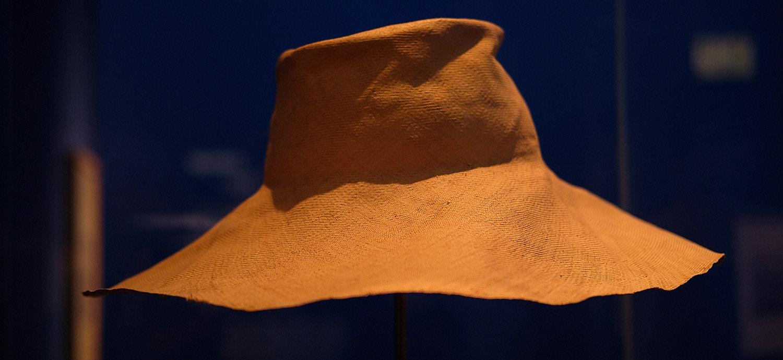 Hat of Hermann Hesse in the germanic national museum of Nürnberg. Germanische Nationalmuseum