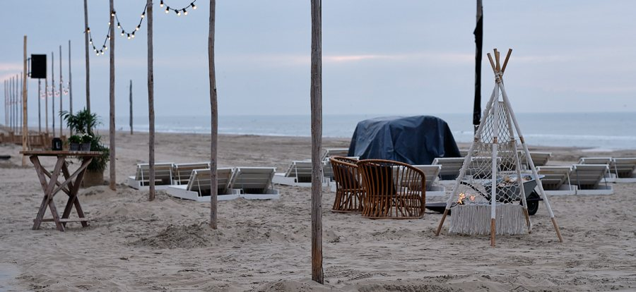 Beach Club in Noordwijk, Holland, The Netherlands
