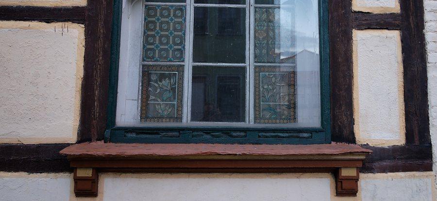 Renovated old windowsill of Bad Langensalza, Germany