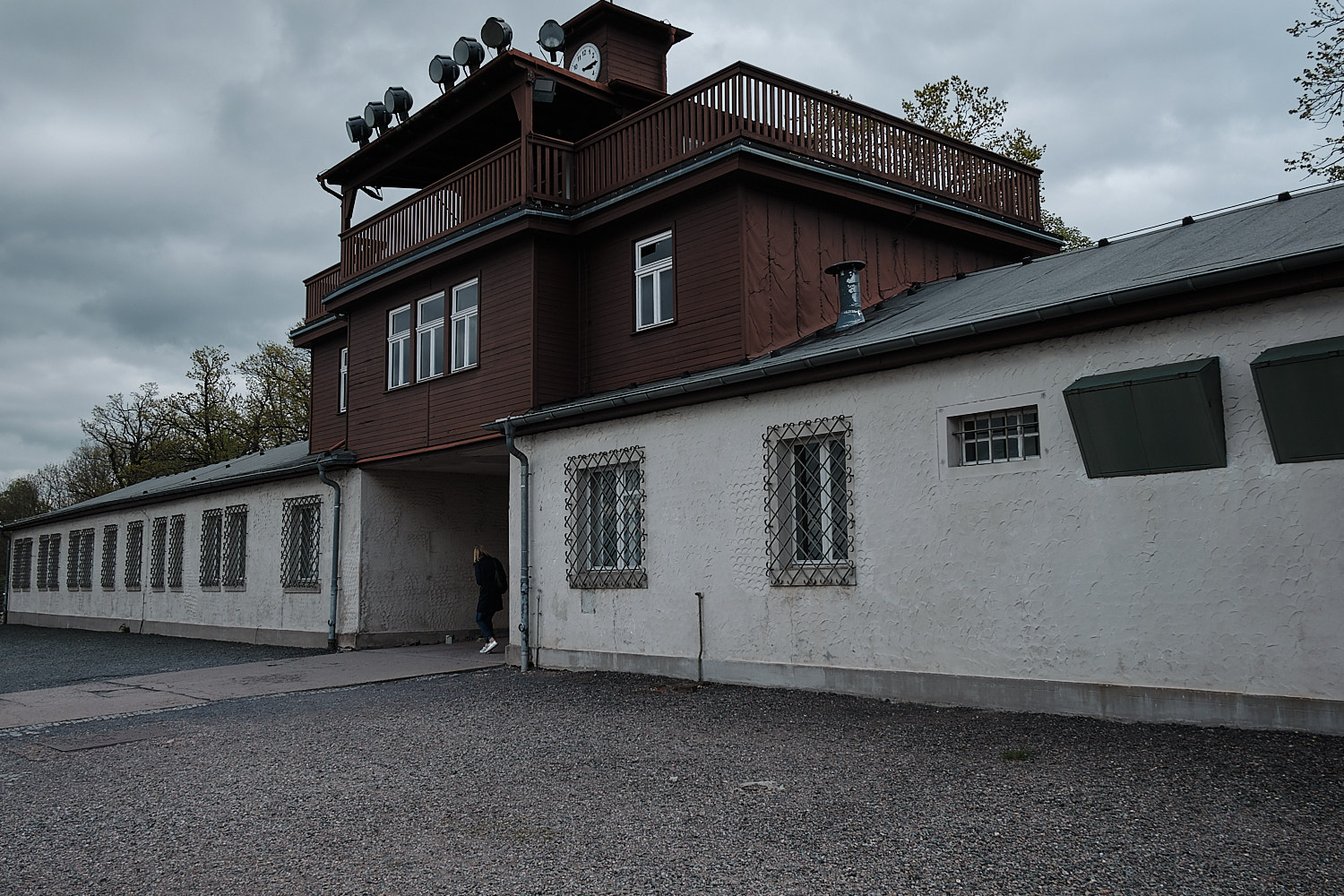 Entrance building with arrest cells in the Memorial Site of the KZ-Buchenwald, Weimar, Germany