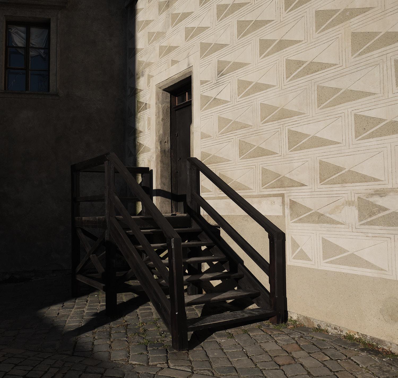 Cesky Krumlov, Czech Republic, castle round walk