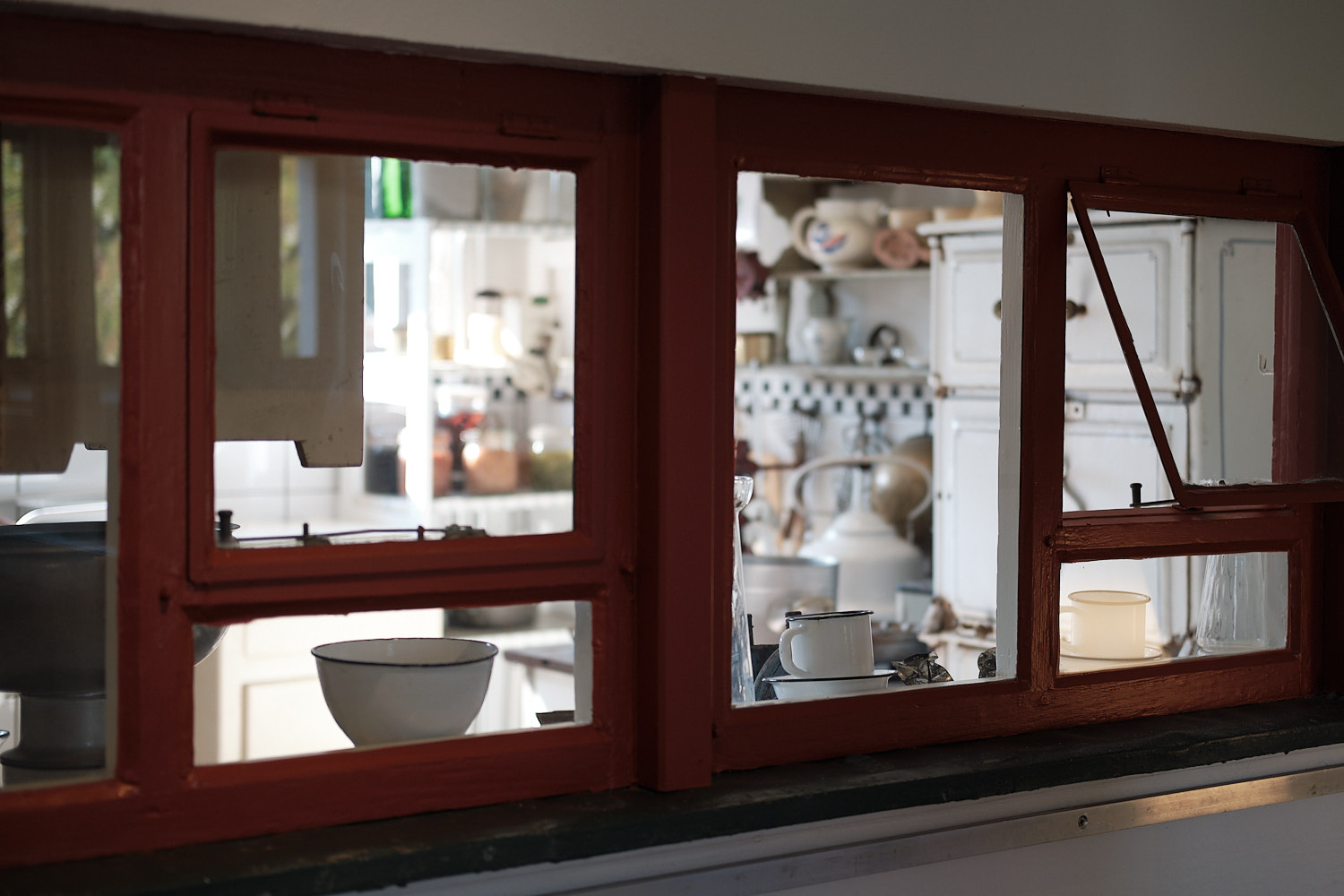 The Otto Haesler Museum, and details of the preserved Kitchen at one of the workers houses.