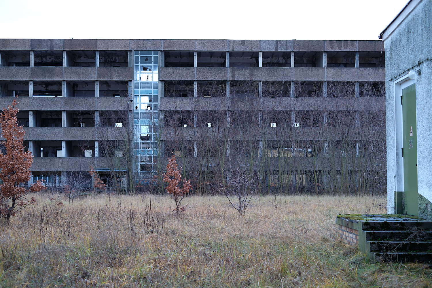 Winter equinox dimmed light at Felchowsee, Uckermarkt. Abandoned military facilities