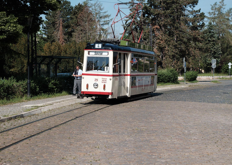 Naumburg, old tram line