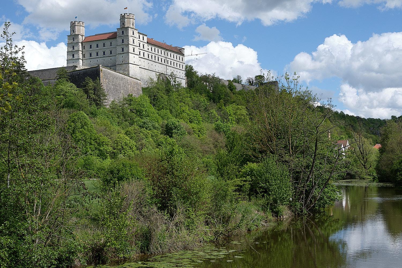 Castle at Eichstätt on the Altmühlradweg, Altmühltal, Germany